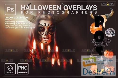 Halloween clipart Halloween overlay, Photoshop overlay V11 - 1584015