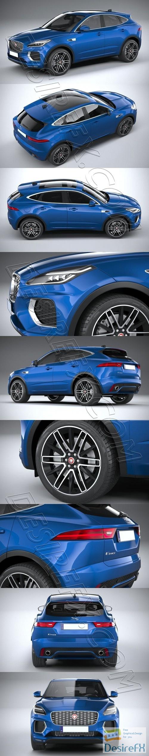 Jaguar E-Pace R-Dynamic 2021 3D Model