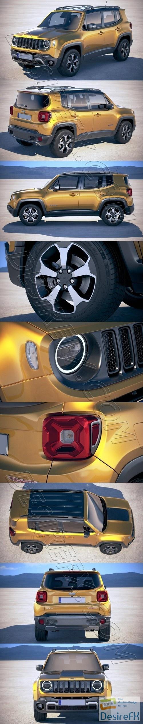 Jeep Renegade 2019 3D Model
