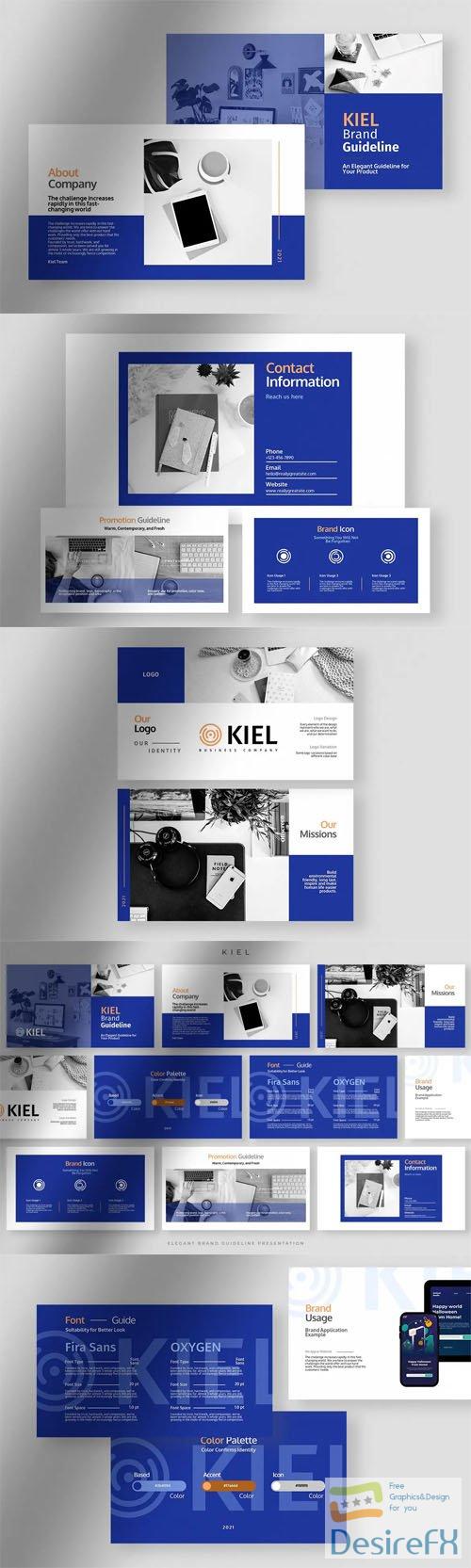 Kiel Brand Guideline Presentation Powerpoint Template