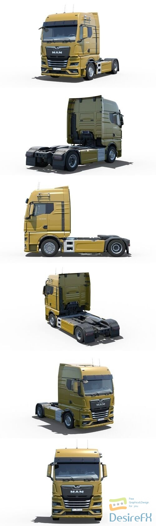 Man TGX 2020 3D Model