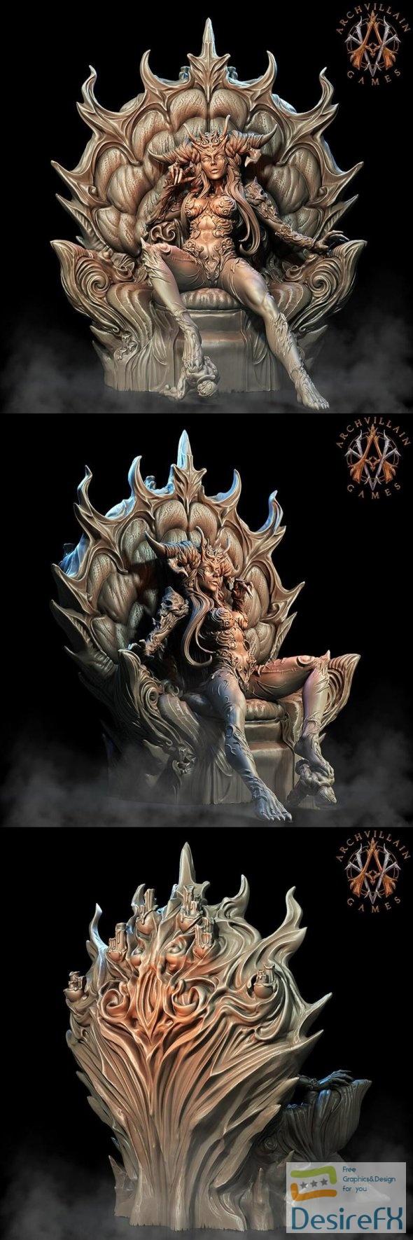 Queen Naamah on Throne 3D Print