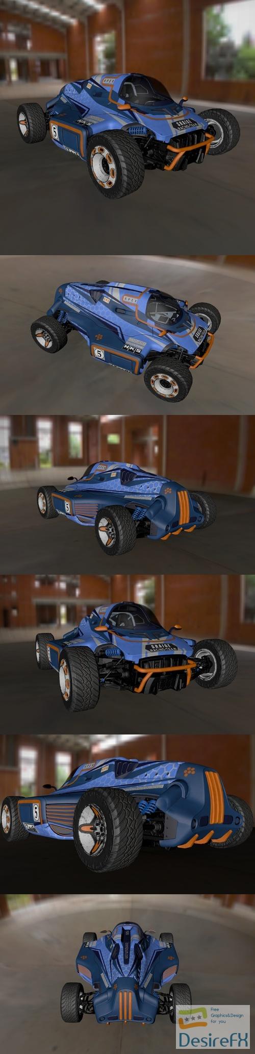 Racing car concept 3D Model