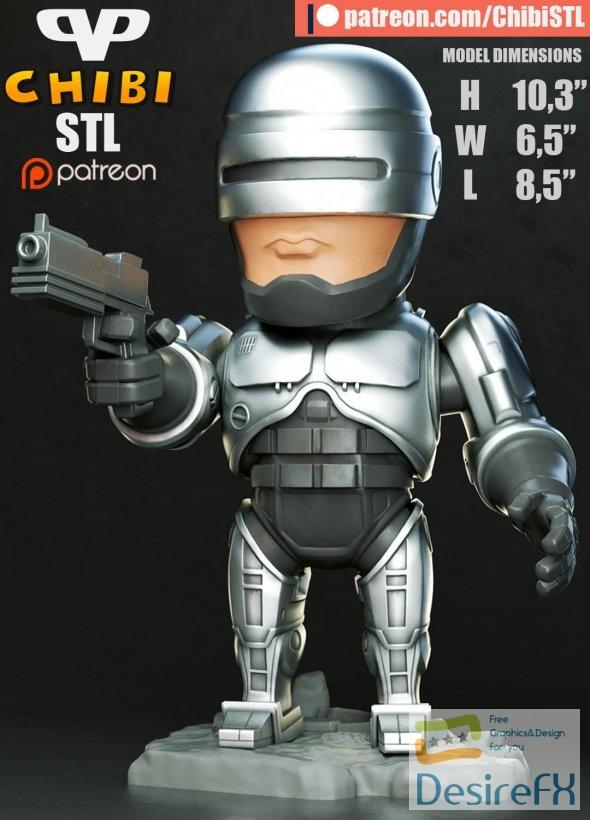 Robocop Chibi 3D Print