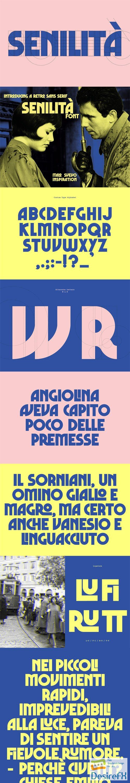 Senilita - Retro Sans Serif Display Font