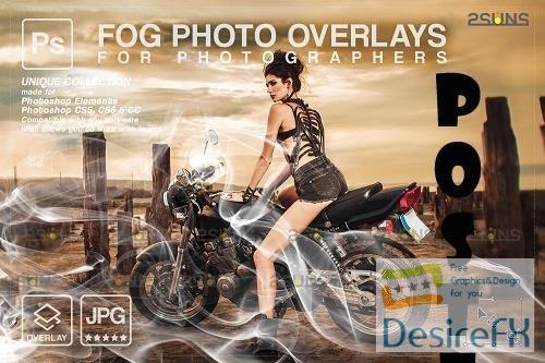 Smoke backgrounds & Smoke bomb overlay, Photoshop overlay V4 - 1447929