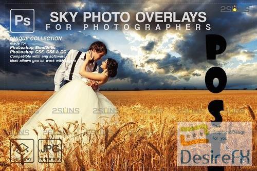 Sunset Sky Photo Overlays, photoshop - 1583942