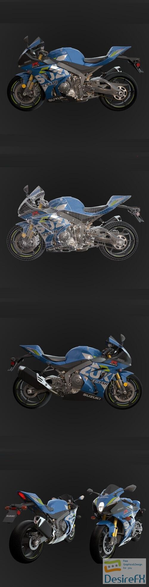 Suzuki GSX R1000R 2019 3D Model