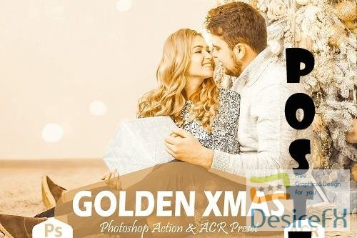 10 Golden Xmas Photoshop Actions And ACR Presets - 1630259