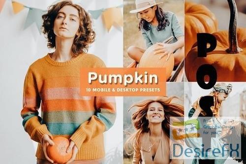 10 Pumpkin Mobile & Desktop Lightroom Presets