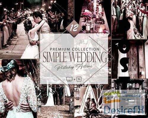 12 Simple Wedding Photoshop Action, Engagement Mobile Preset