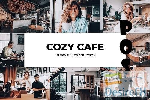 20 Cozy Cafe Lightroom Presets LUTs - 6573818