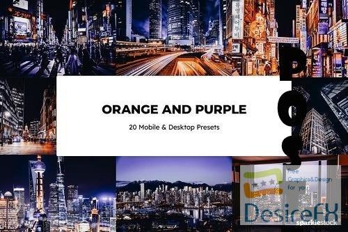 20 Orange & Purple Lightroom Presets - 6550067