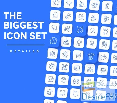 3000+ Icons - The Biggest Icon Set Figma Template