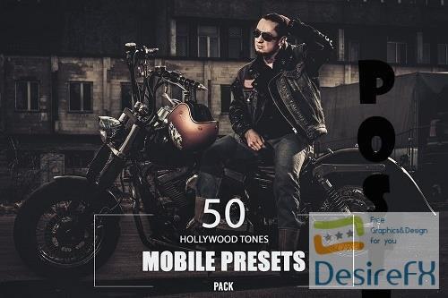 50 Hollywood Tones Mobile Presets Pack - PG7Y6J9