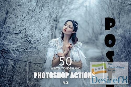 50 Winter Wonderland Photoshop Action - 6430409