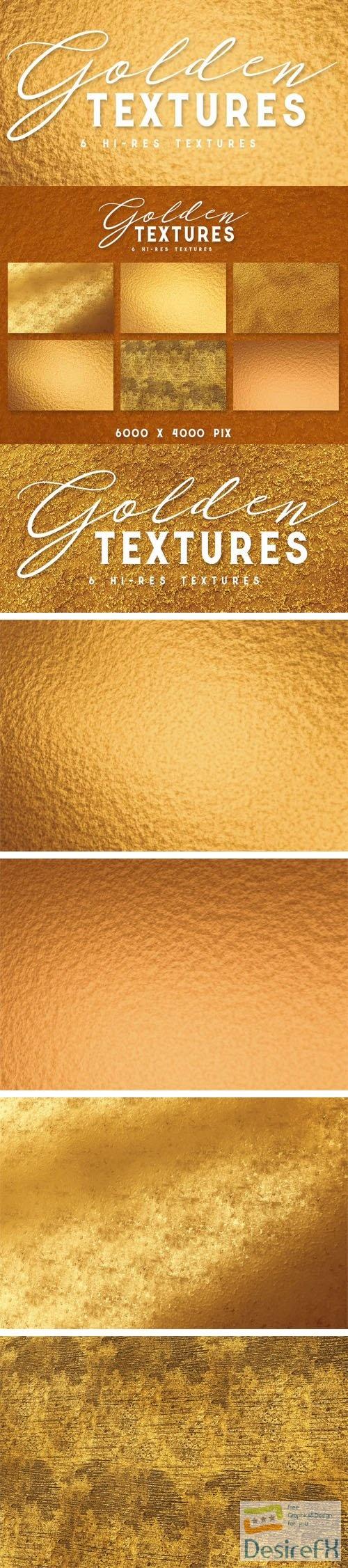 6 Hi-Res Golden Textures Collection