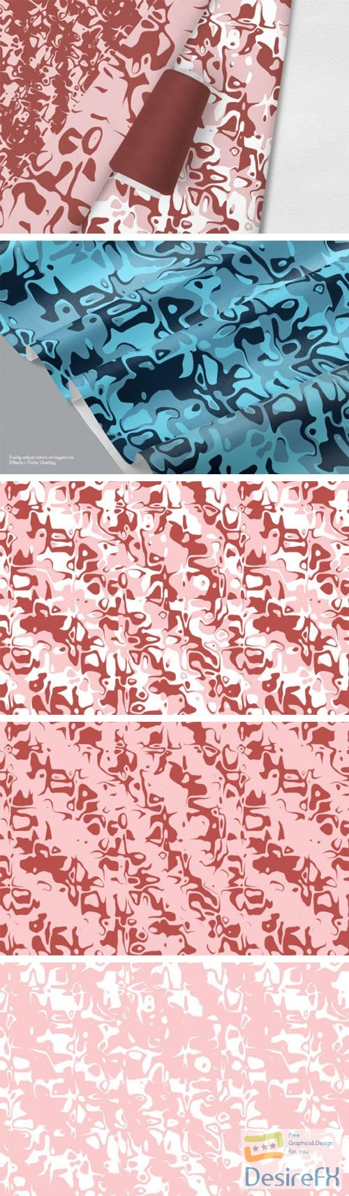 Abstract Organic Patterns PSD Template