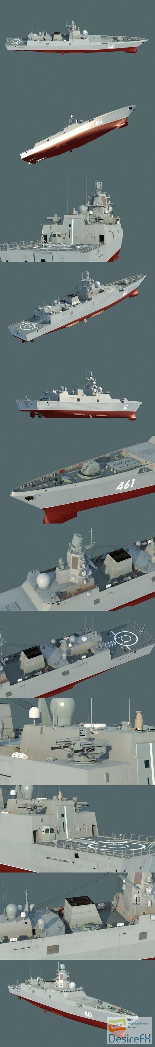 Admiral Gorshkov class frigate 3D Model