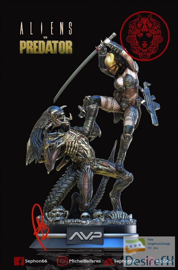 Alien vs Predator Machiko 3D Print