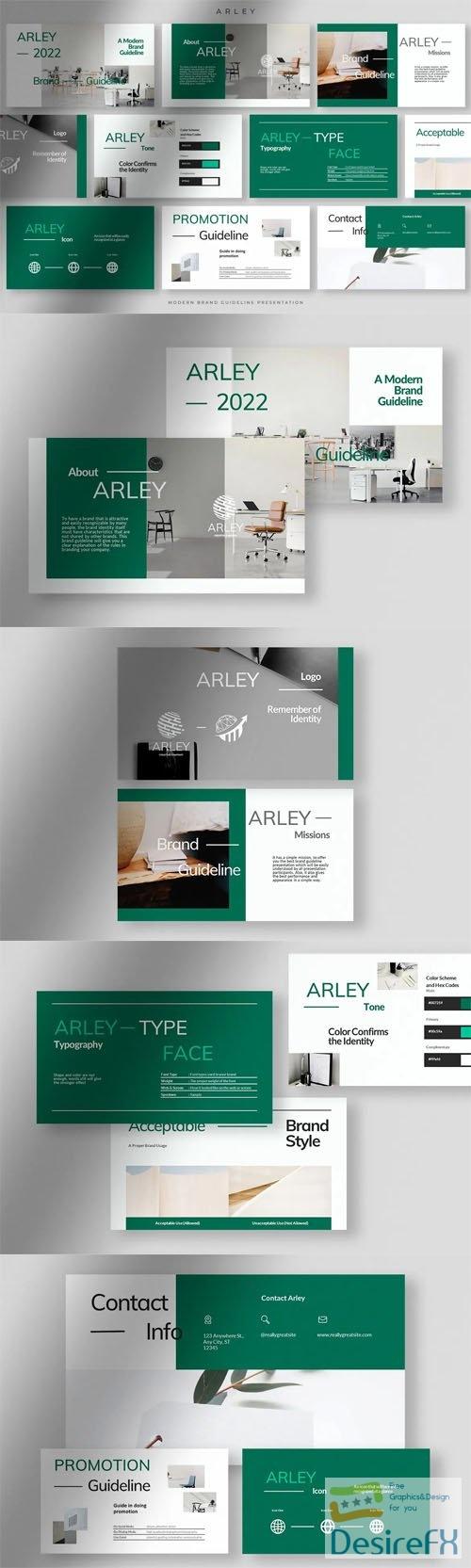 Arley Presentation - Brand Guideline Powerpoint Template