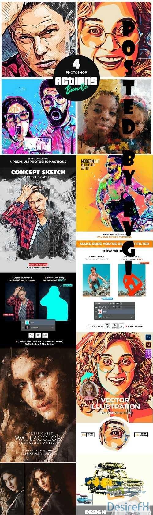 Artist Bundle 3 - Four Photoshop Actions - 34278722
