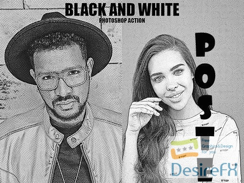 Black and White Photoshop Action - 6033870