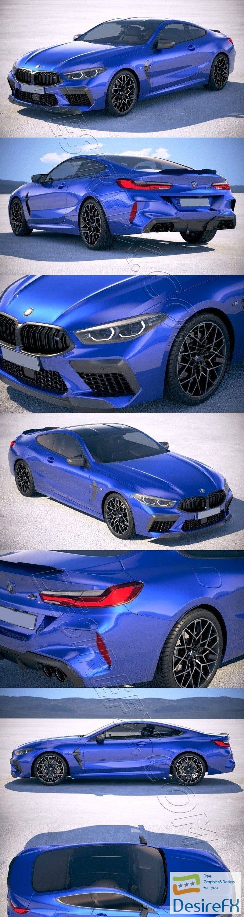 BMW M8 Competition Coupe 2020 3D Model