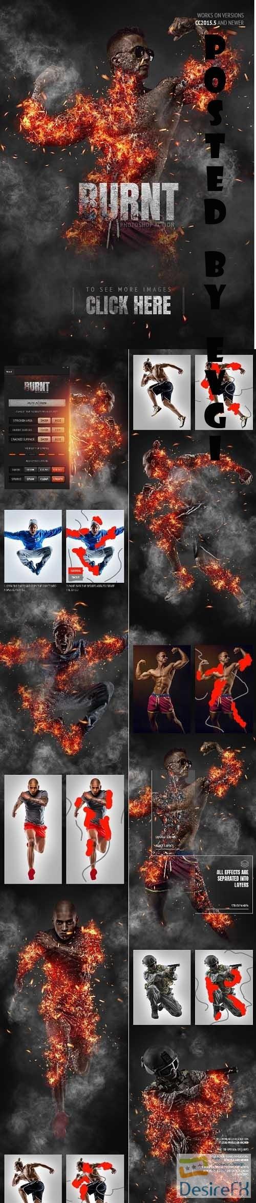 Burnt Photoshop Action - 31468697