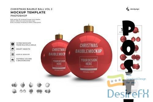 Christmas Bauble Ball 3D Mockup Template Bundle Vol 2 - 1627793