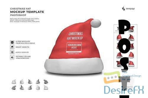 Christmas Hat 3D Mockup Template Bundle - 1634177