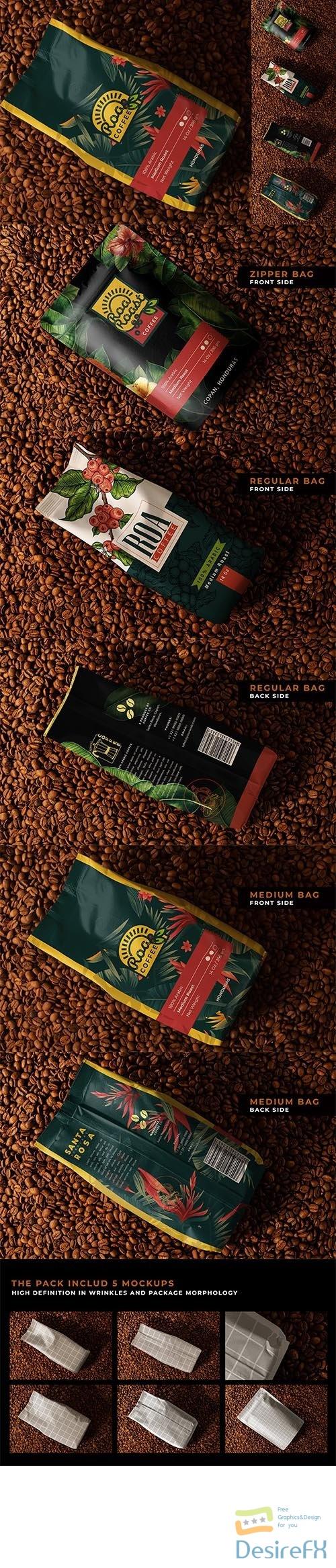 CreativeMarket - Coffee Package Mockup Set 6481546