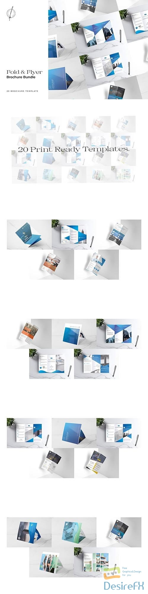 CreativeMarket - Fold & Flyer Brochure Bundle 5480573