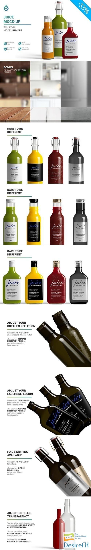 CreativeMarket - Juice Mockup 5742754