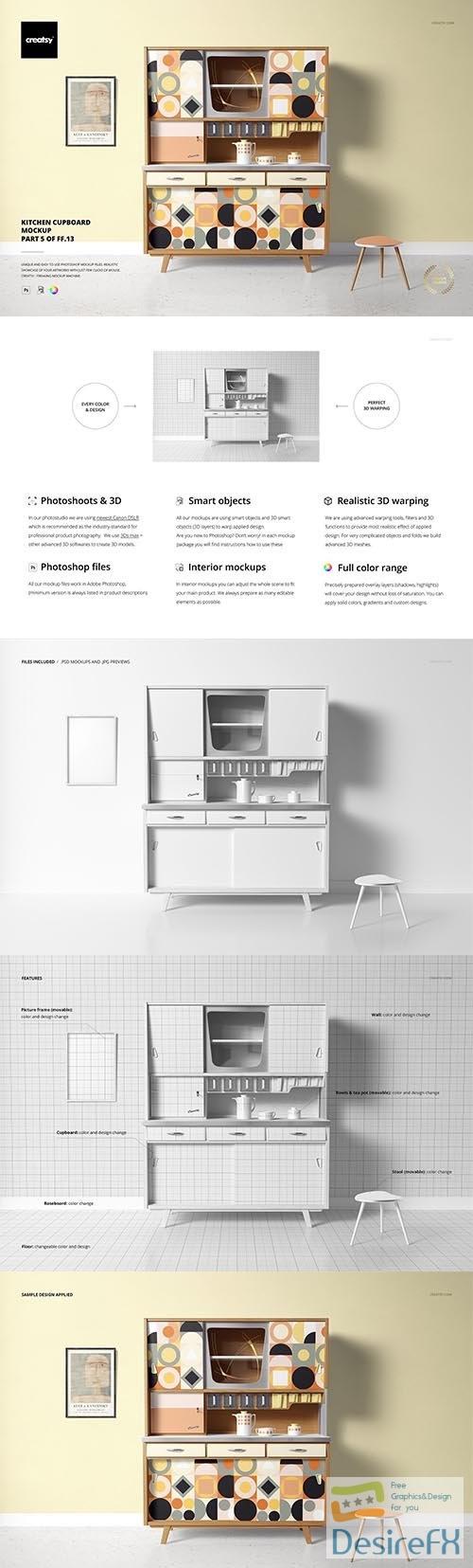 CreativeMarket - Kitchen Cupboard Mockup (5FFv.13) 6514172