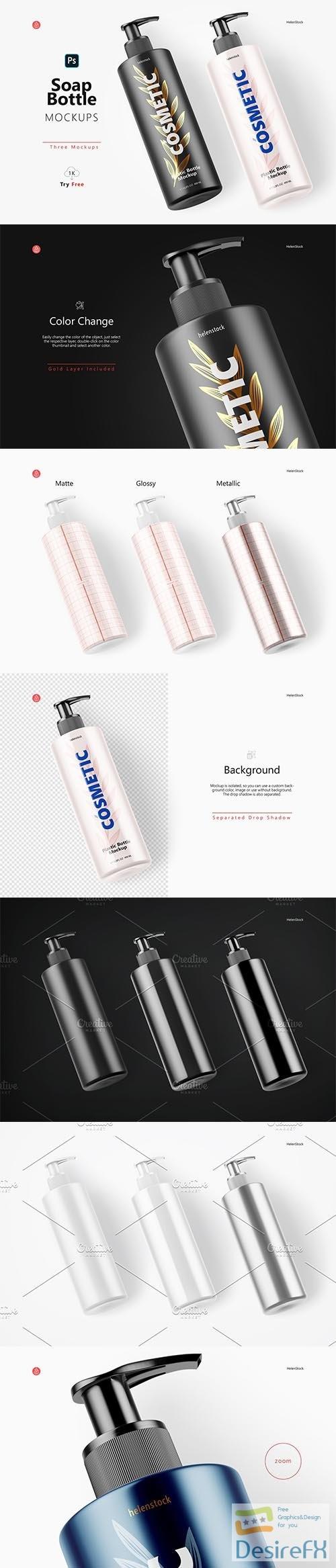 CreativeMarket - Soap Bottle Mockup - Halfside View 5444713