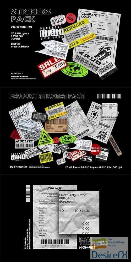 CreativeMarket - Stickers Pack 6522642