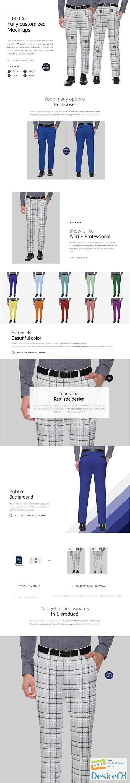 CreativeMarket - Suit Pants 2xMock-ups 6523873