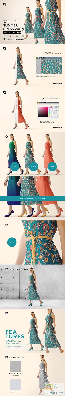 CreativeMarket - Women's Summer Dress Mockup Vol.3 4905778