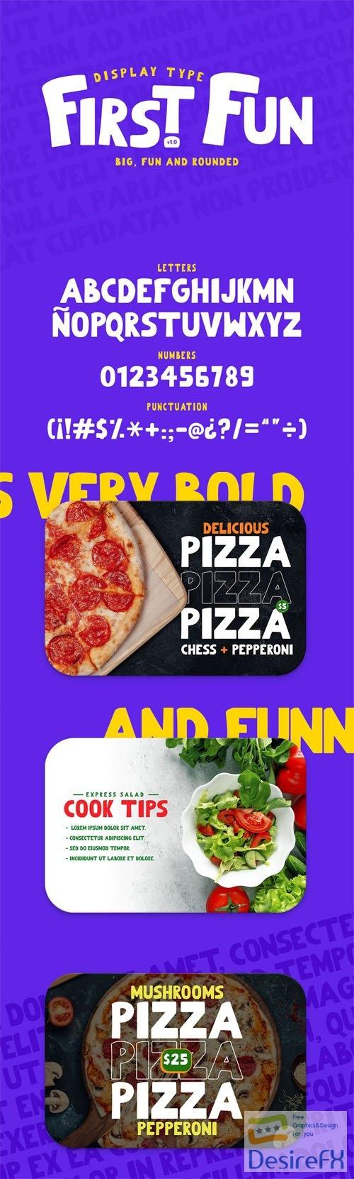 First Fun - Thick Playful Font
