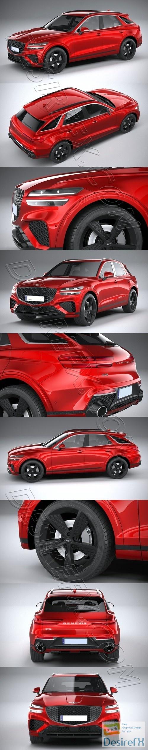 Genesis GV70 Sport 2020 3D Model