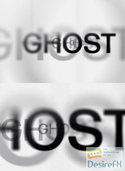 Ghost Letters PSD Text Effect