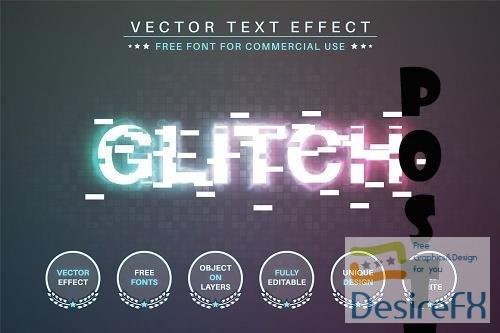 Glitch - Editable Text Effect - 6568510