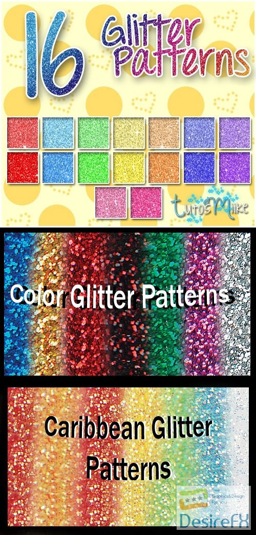 Glitter Patterns Collectoion for Photoshop