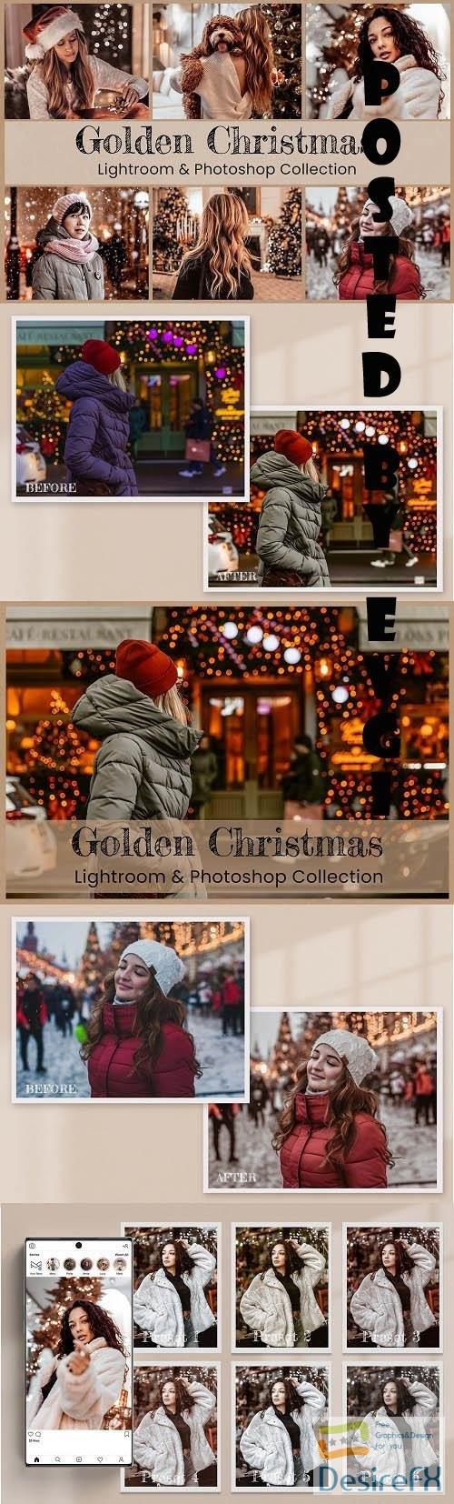 Golden Christmas Lightroom Photoshop - 6570666
