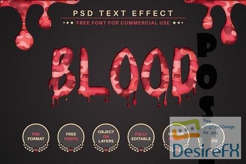 Halloween Blood - PSD Editable Text - 6580011