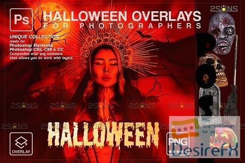 Halloween clipart Halloween overlay, Photoshop overlay V28 - 1612720