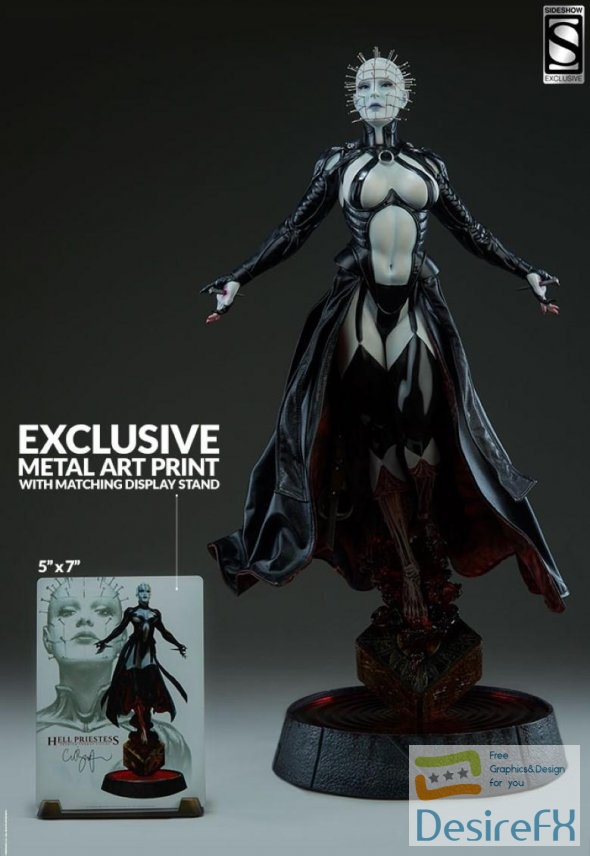 Hell Priestess 3D Print