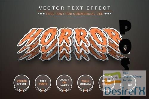 Horror Sticker Editable Text Effect - 6571310