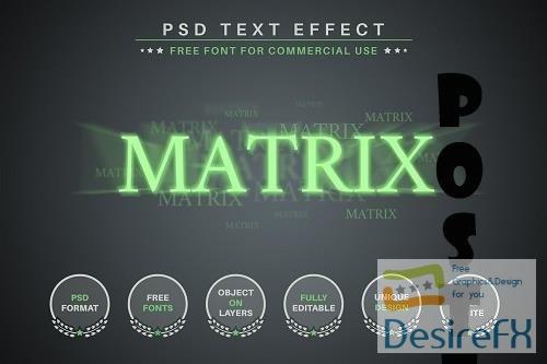 Matrix - PSD Editable Text Effect - 6584399